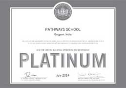 Pathways School Gurgaon - Certificate