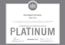 Pathways School Noida - Certificate