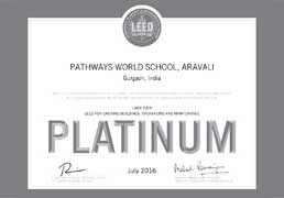 Pathways world School Aravali - Certificate